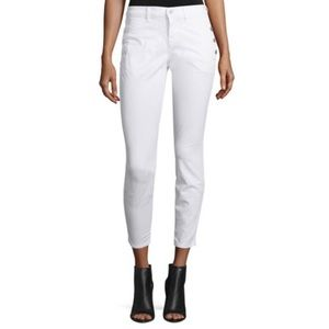 J Brand Zion Mid Rise Blanc Skinny Jeans